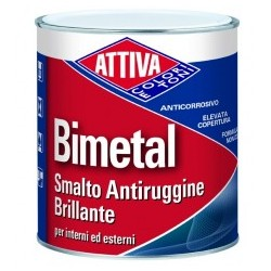 BIMETAL SMALTO ANTICORROSIVO BRILLANTE IN GEL. ATTIVA COLORI
